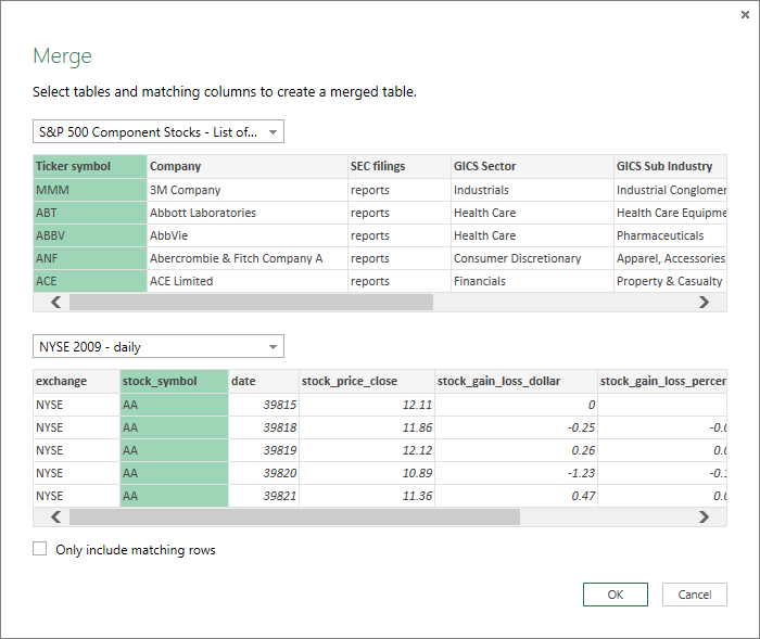 Combine multiple queries (Power Query) - Excel