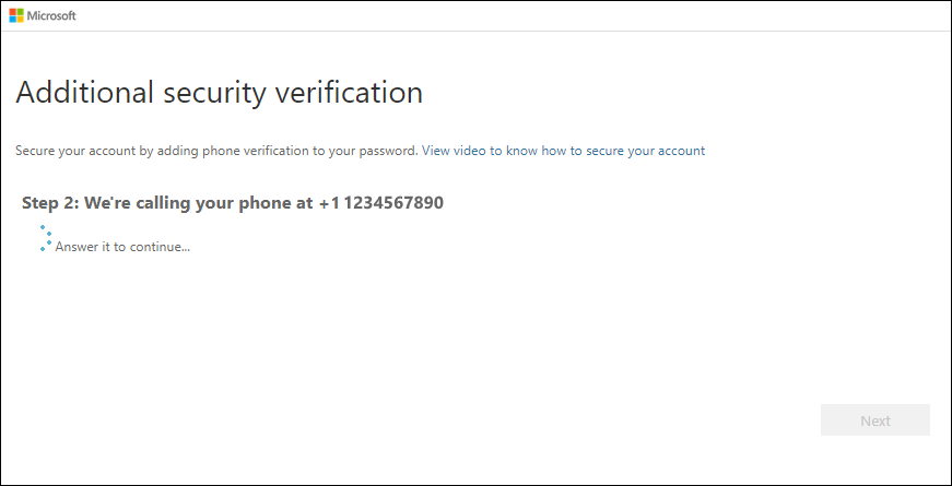 Testing the specified phone number