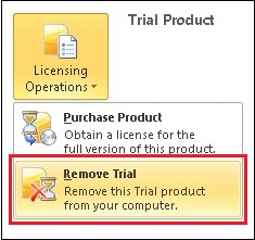 Remove Office 2010 Trial Version