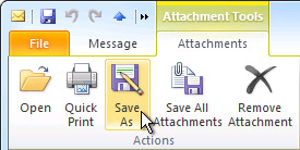 Open or save attachments - Outlook