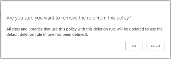 Confirm removing rule from policy message