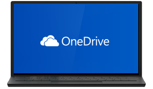 OneDrive running on a computer