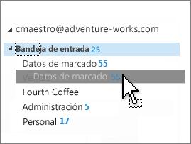 Personalizar bandeja de entrada