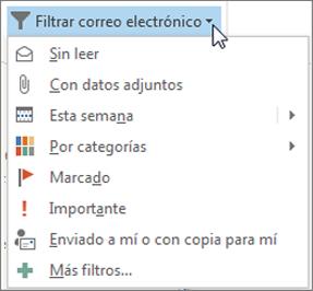Filtrar correo electrónico