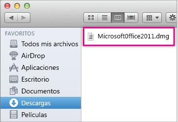 Abrir el instalador de Office