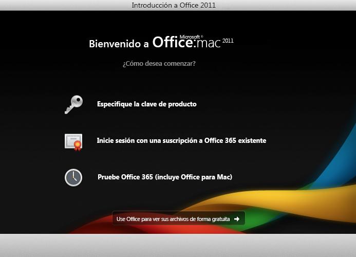 Iniciar sesión en una suscripción de Office365 existente