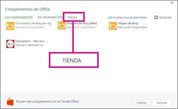 Haga clic en Tienda.