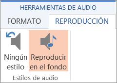 Reproducir música en segundo plano