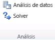 Grupo Análisis en la pestaña Datos