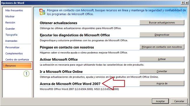 Recursos de Word2007