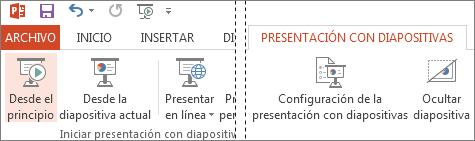 Empezar la presentación desde el principio