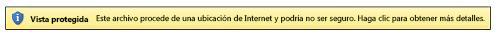 Vista protegida para ubicaciones de Internet
