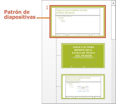 Patrón de diapositivas con diseños