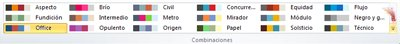 Más combinaciones de colores en Publisher 2010
