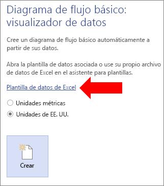 Crear un diagrama del visualizador de datos soporte de office seleccionar el vnculo de la plantilla de datos de excel ccuart Images