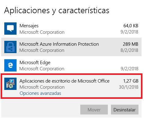 Aplicaciones de escritorio de Microsoft Office