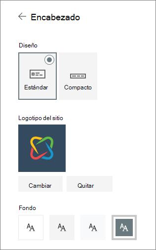 Configuración de encabezado