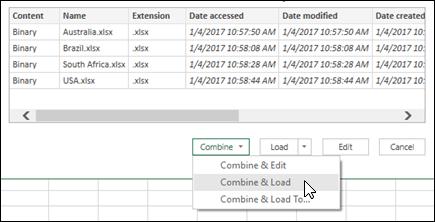 Combinar combinar archivos binarios y la opción de carga