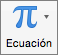 Botón Ecuación