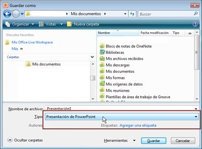abrir presentaciones de powerpoint en powerpoint 2003 o una versión