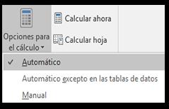 Asegúrese de que el cálculo esté establecido en Automático.  Desde la pestaña Fórmula, vaya a Opciones de cálculo.
