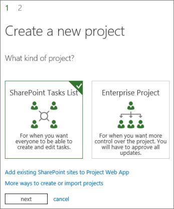 Crear un nuevo proyecto