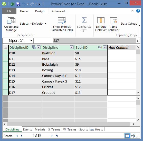 copiar campos en PowerPivot