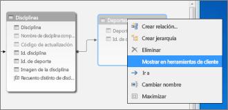 Mostrar en herramientas cliente