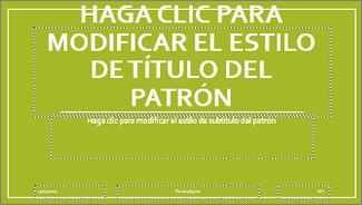 Diseño de diapositiva de título básico en PowerPoint