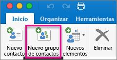 Inicio > Nuevo grupo de contactos