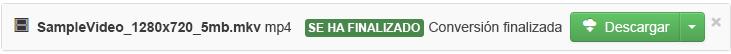 Cuando se complete el proceso de conversión, aparecerá un botón verde que dice Descargar para que pueda copiar el archivo multimedia convertido a su equipo