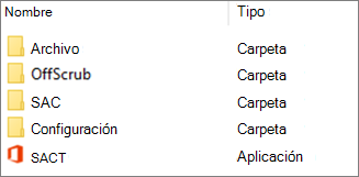 Estructura de carpetas administradas de forma local para Office 365