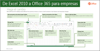 Vista en miniatura de la guía para cambiar de Excel 2010 a Office 365
