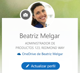 Haga clic en Actualizar perfil para cambiar la información