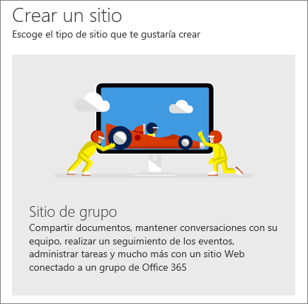 SharePoint Office 365 Crear un sitio