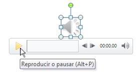 Reproducir el clip de audio