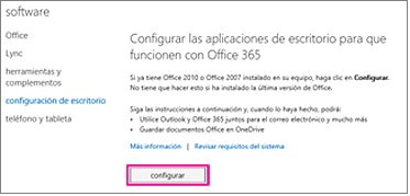 Configurar las aplicaciones de escritorio para trabajar con Office 365