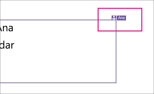 Muestra un icono en el que se puede ver a una persona trabajando en una sección de una diapositiva en PowerPoint 2016 para Windows