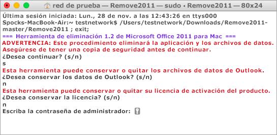 Ejecute la herramienta Remove2011 con Control + clic para abrirla.