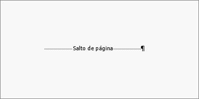 Muestra un ejemplo de un salto de página.