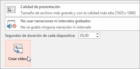 Exportar la presentación como vídeo