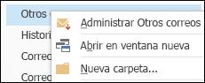 Administrar Otros correos