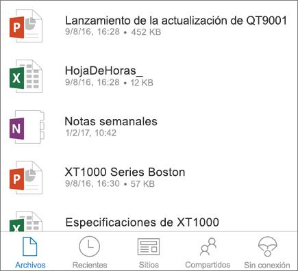 OneDrive móvil