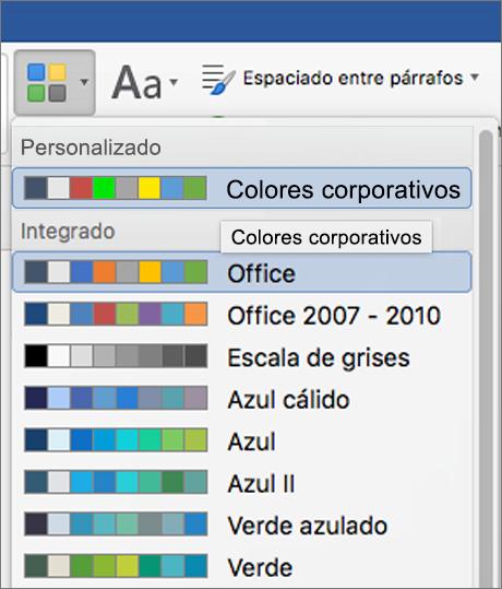 Aplicar el color del tema personalizado - Soporte de Office