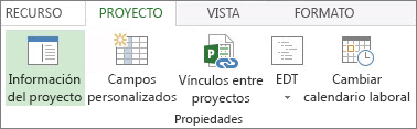 Imagen del botón Información del proyecto