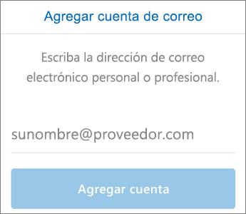 Configurar el correo electrónico en Outlook para iOS (paso 3)