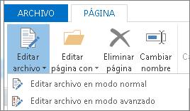 Botón Editar archivo