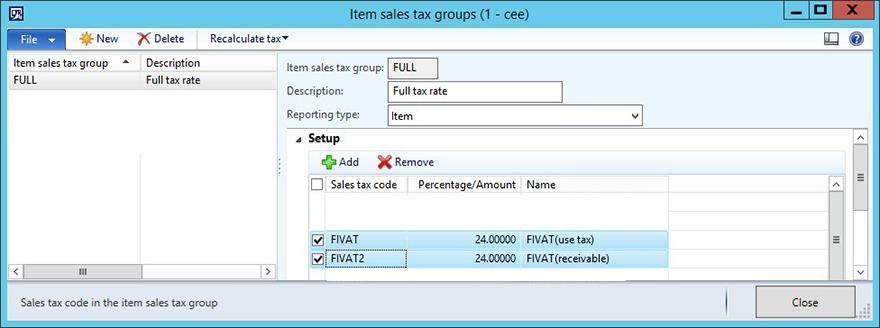KB4072642 - diseño del elemento impuestos grupo informe finlandés