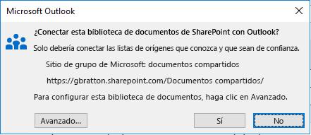 Conectarse a una biblioteca de documentos de SharePoint.