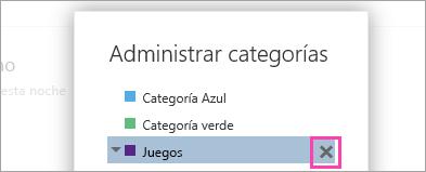 Captura de pantalla del botón Eliminar.